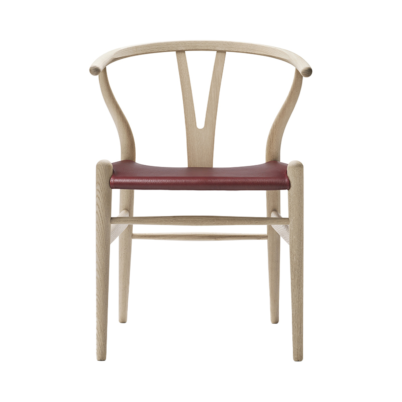 CH24 OAK SOAP LEATHER SEAT THOR 332 RED
