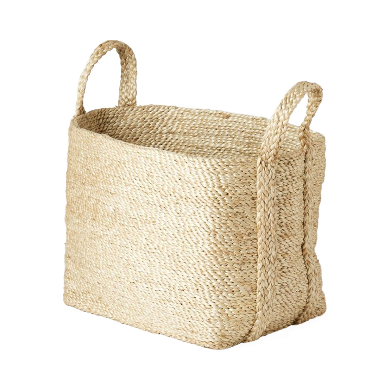 SMALL SQUARE JUTE BASKET NATURAL