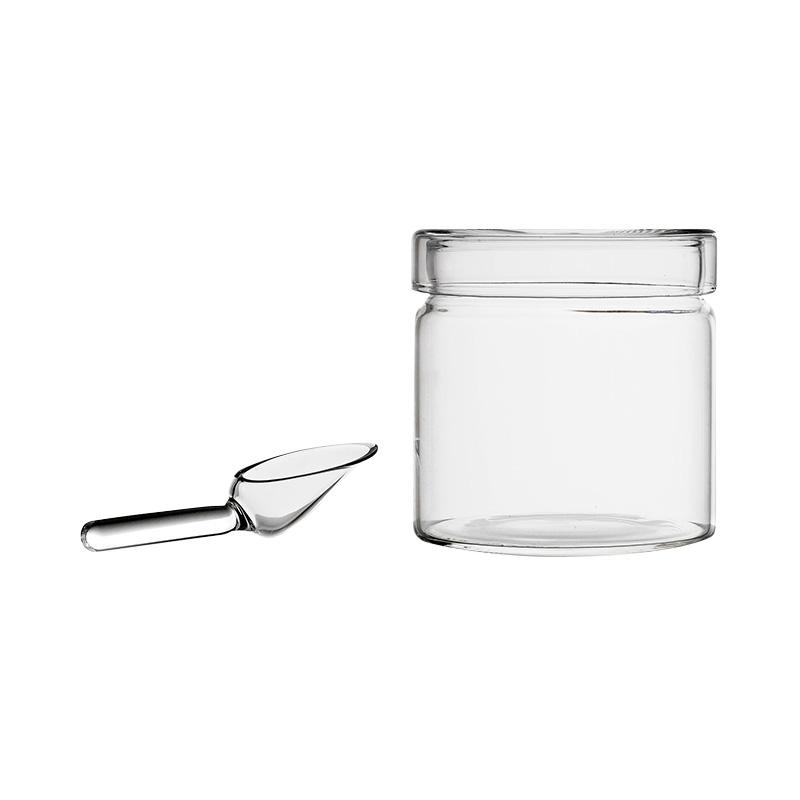 PIUMA SUGARPOT WITH GLASS SPOON