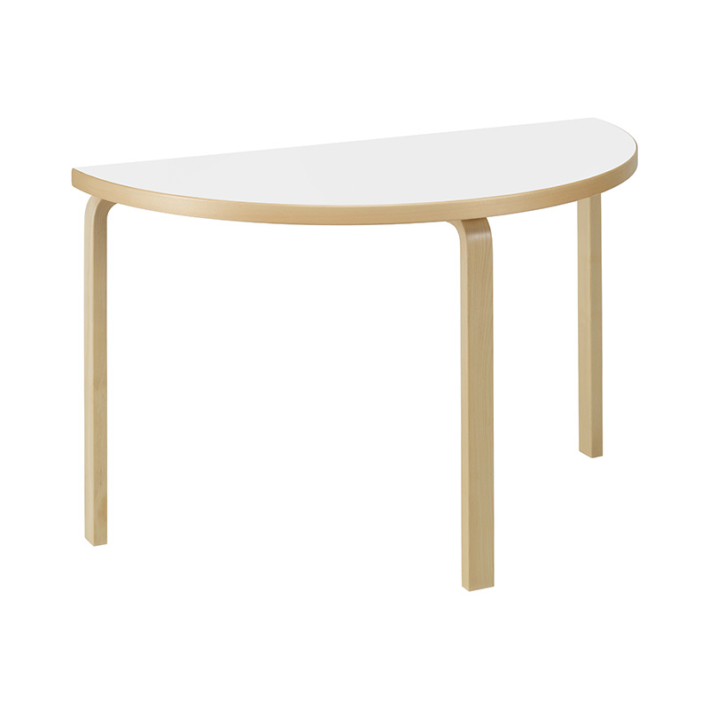 95 TABLE WHITE LAMINATE /NATURAL LEG