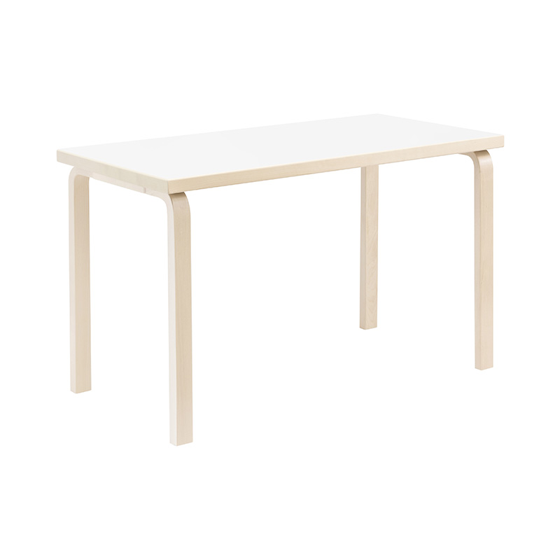 80A TABLE WHITE LAMINATE /NATURAL LEG