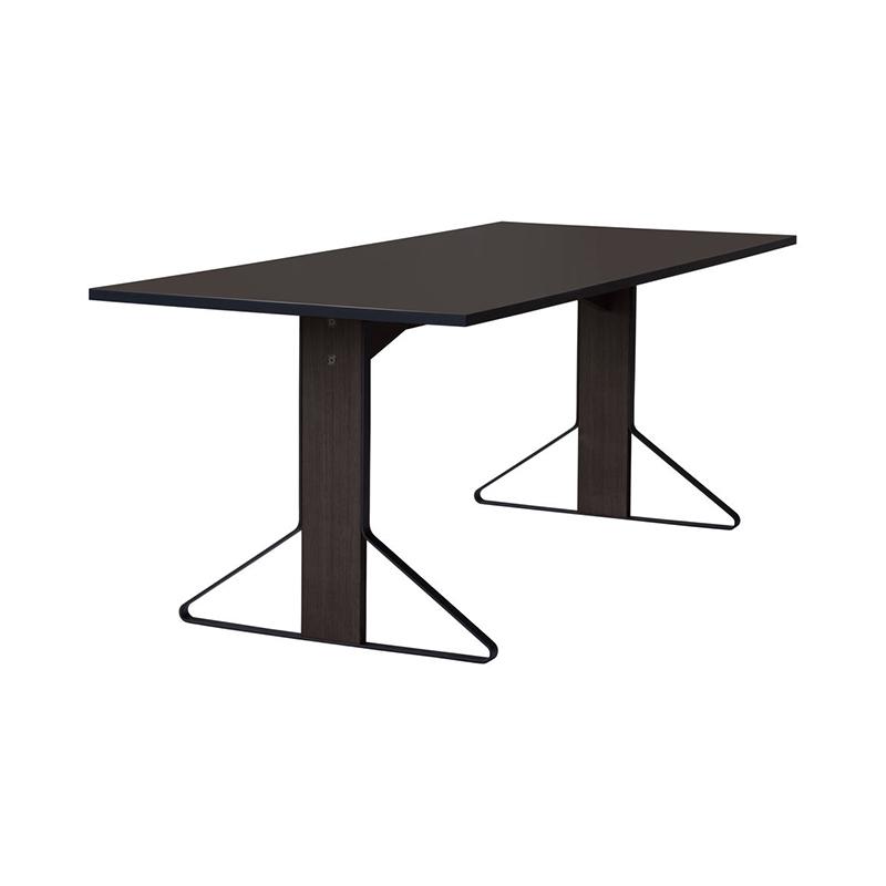 KAARI TABLE REB001 BLACK LINOLEUM BLACK OAK