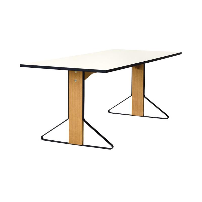 KAARI TABLE REB012 WHITE LAMINATE NATURAL OAK