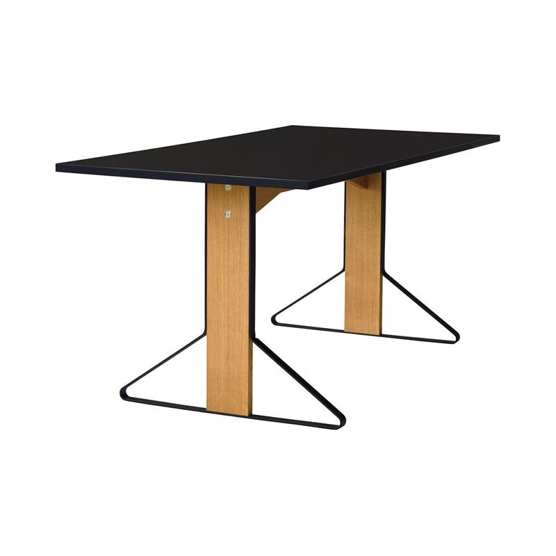 KAARI TABLE REB012 BLACK LAMINATE NATURAL OAK