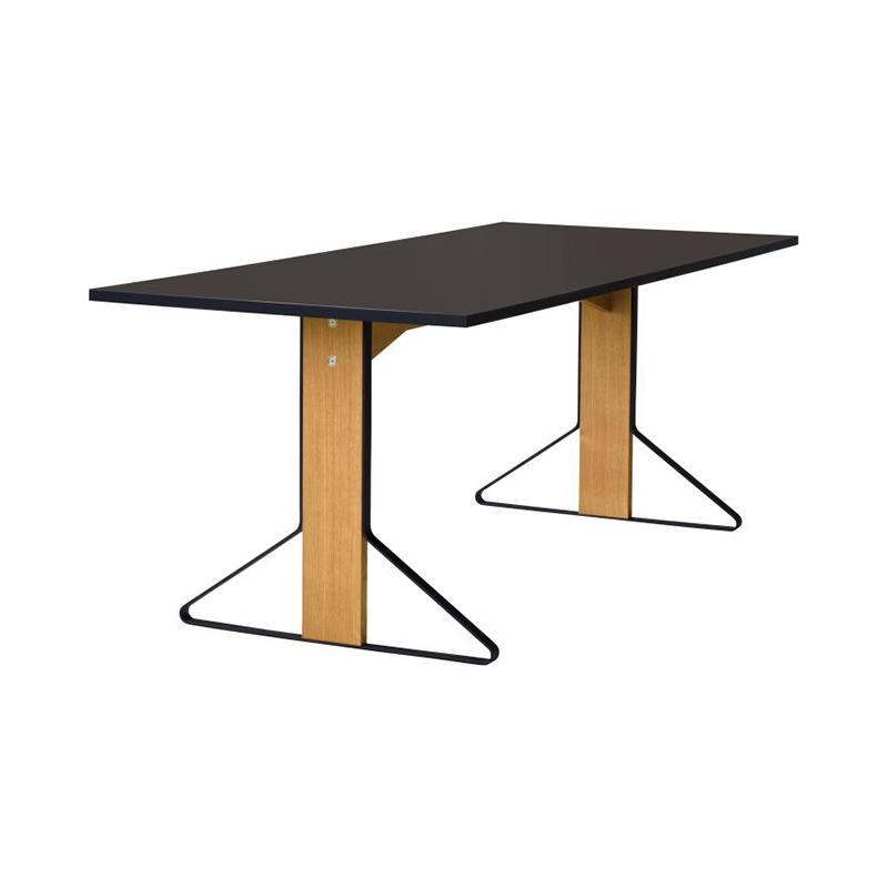 KAARI TABLE REB012 BLACK LINOLEUM NATURAL OAK