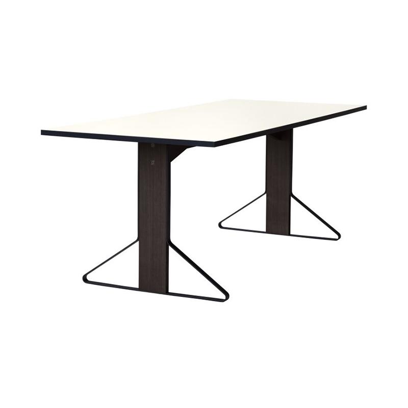 KAARI TABLE REB012 WHITE LAMINATE BLACK OAK