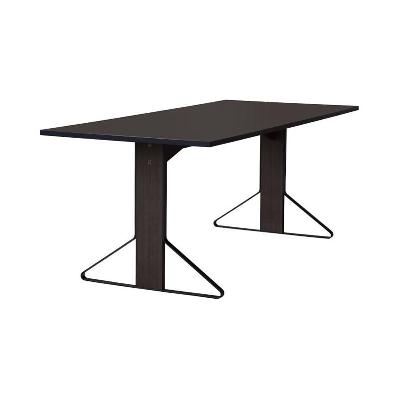 KAARI TABLE REB012 BLACK LINOLEUM BLACK OAK