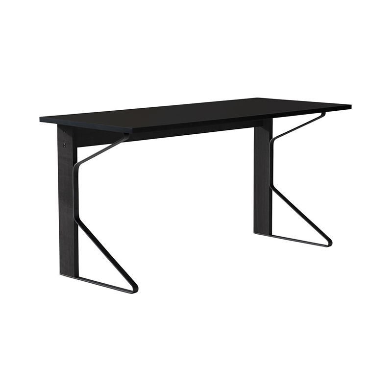 KAARI DESK REB005 BLACK LAMINATE BLACK OAK