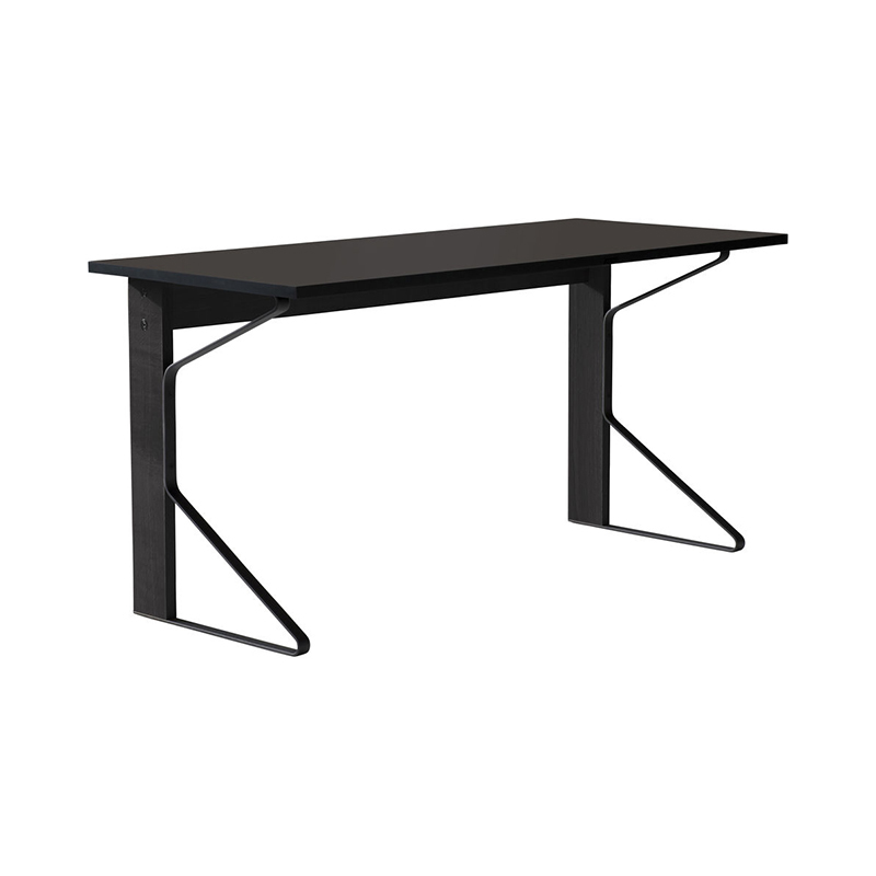 KAARI DESK REB005 BLACK LINOLEUM BLACK OAK