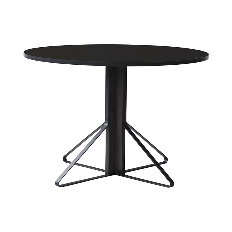 KAARI TABLE REB004 BLACK LAMINATE BLACK OAK