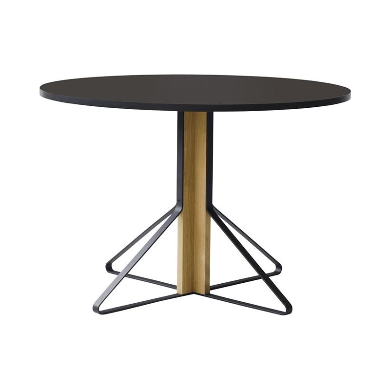 KAARI TABLE REB004 BLACK LINOLEUM NATURAL OAK