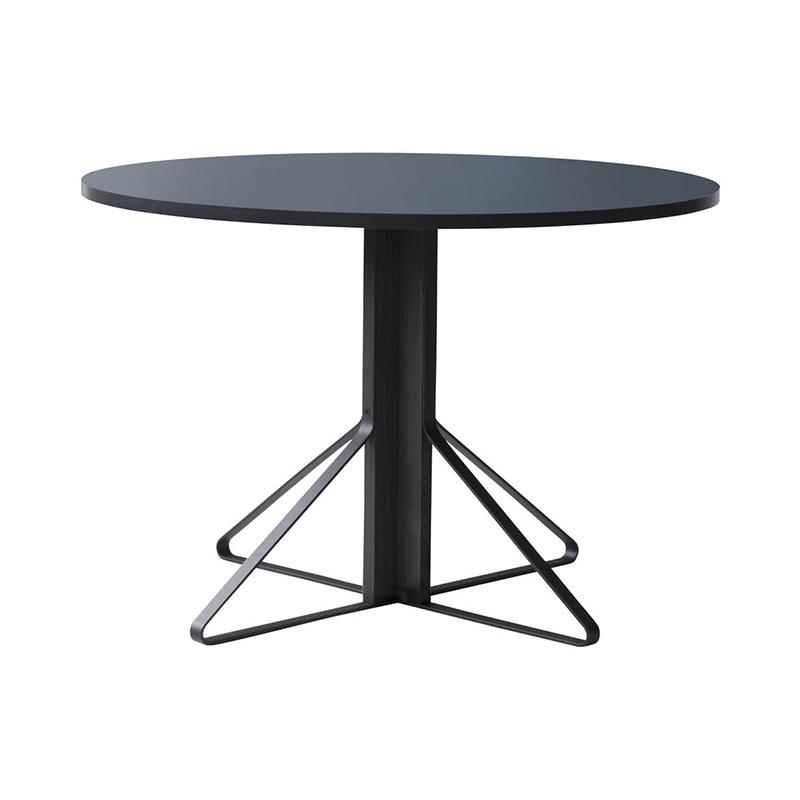 KAARI TABLE REB004 BLACK LINOLEUM BLACK OAK