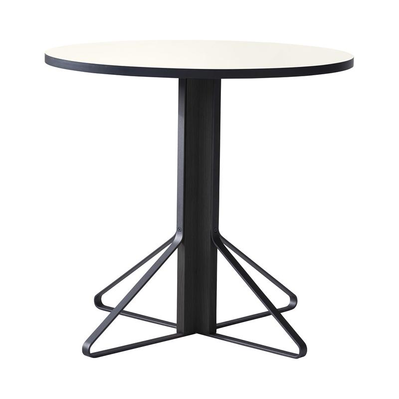 KAARI TABLE REB003 WHITE LAMINATE BLACK OAK