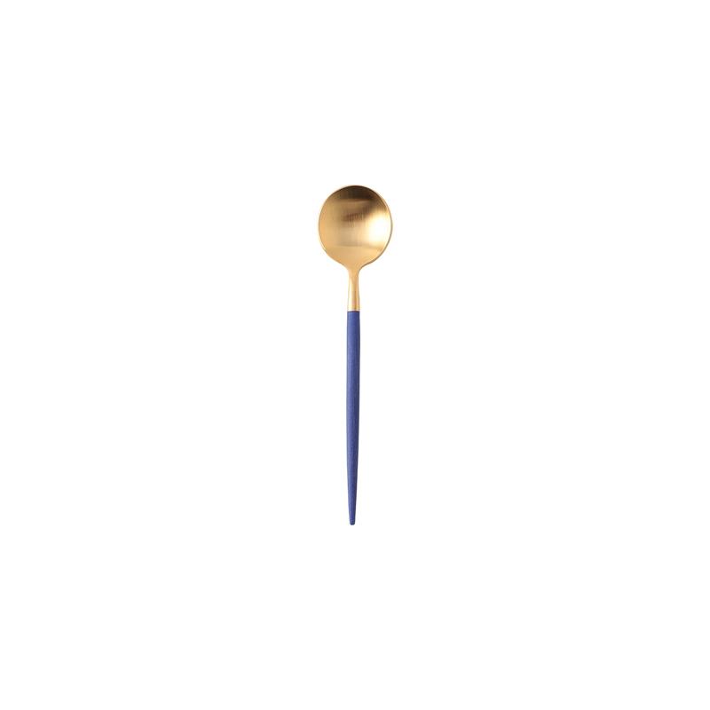 GOA CONRAN BLUE MATTE GOLD COFFEE/TEA SPOON