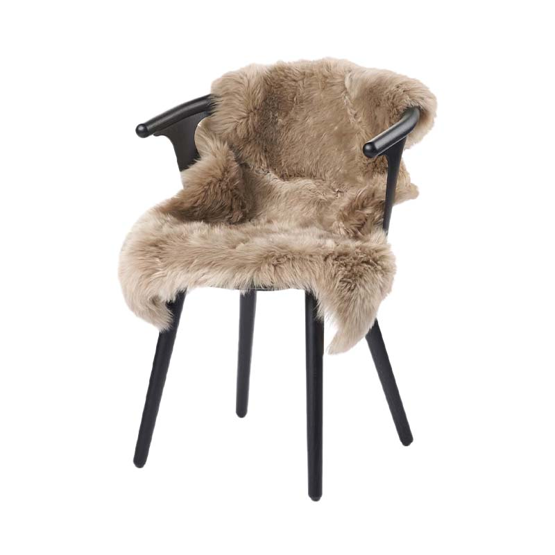 NZ SHEEPSKIN LONG-WOOL 90X60 TAUPE