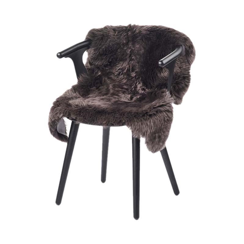 NZ SHEEPSKIN LONG-WOOL 90X60 WALNUT
