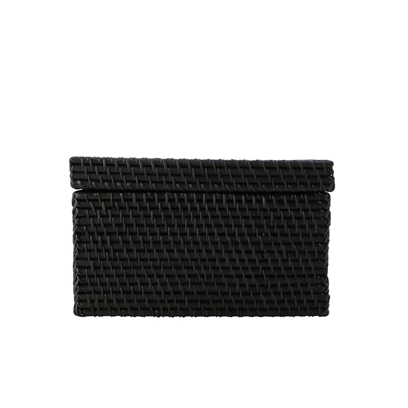 RECTANGLE BOX WITH COVER BLACK M