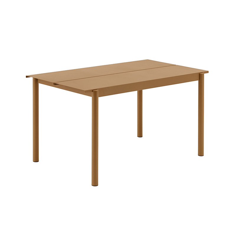 LINEAR STEEL TABLE BURNT ORANGE