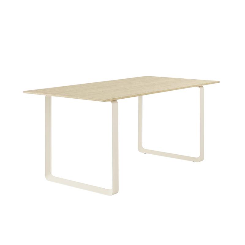 70/70 TABLE SAND FRAME /SOLID OAK TOP