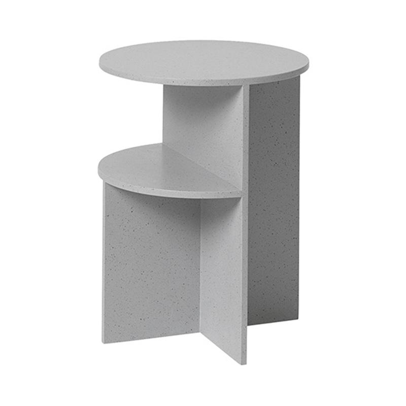 HALVES SIDE TABLE /GREY