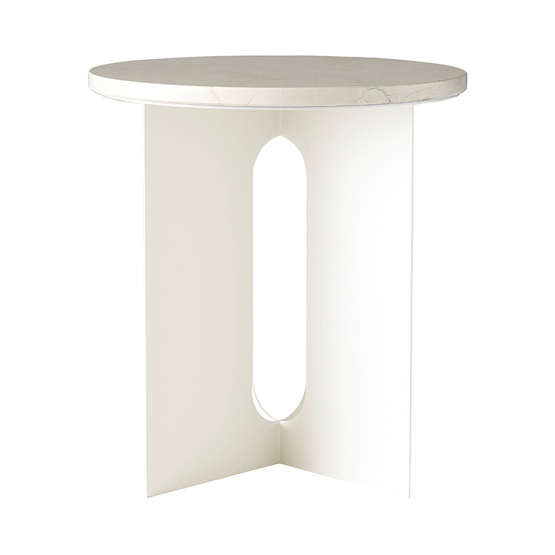 ANDROGYNE SIDE TABLE CRYSTAL ROSE MARBLE