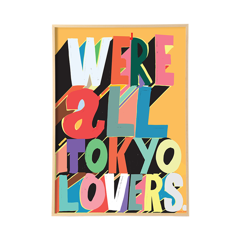 RUDE TOKYO LOVERS WITH FRAME 【フレーム付き】