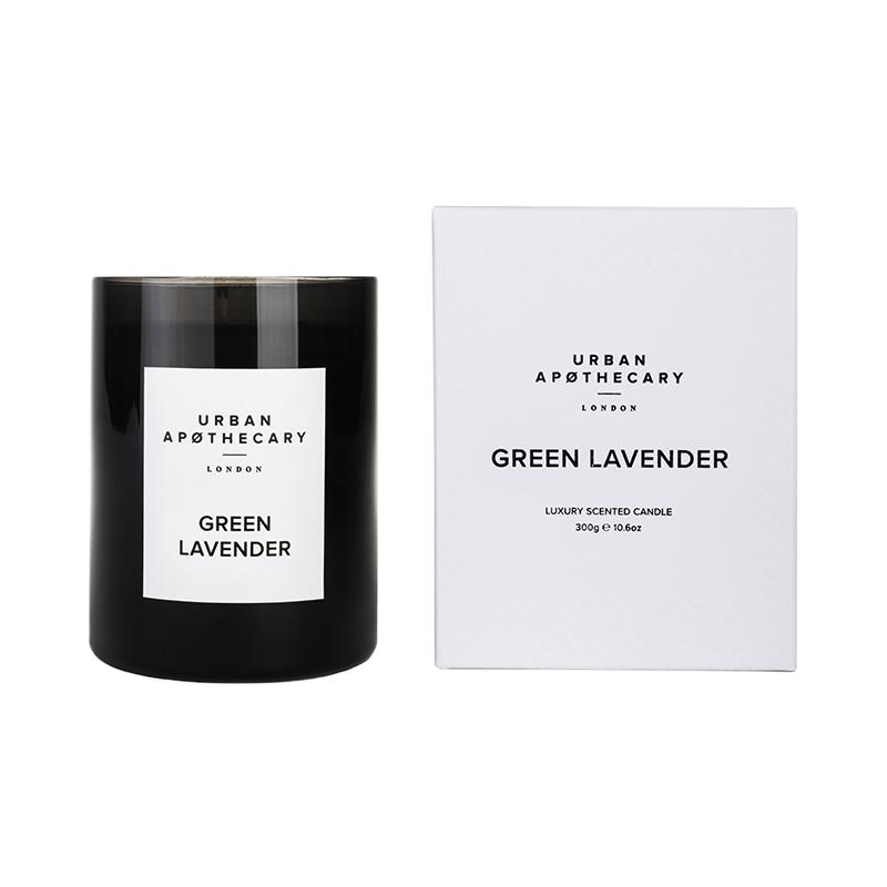 URBAN APOTHECARY CANDLE BLACK 300G GREEN LAVENDER