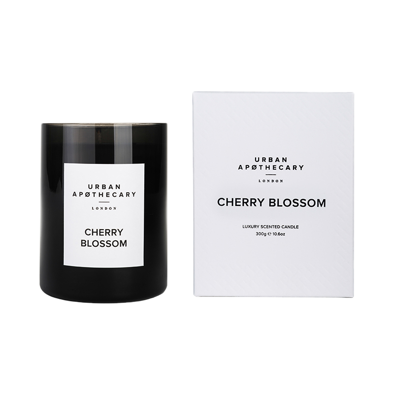 URBAN APOTHECARY CANDLE BLACK 300G CHERRY BLOSSOM