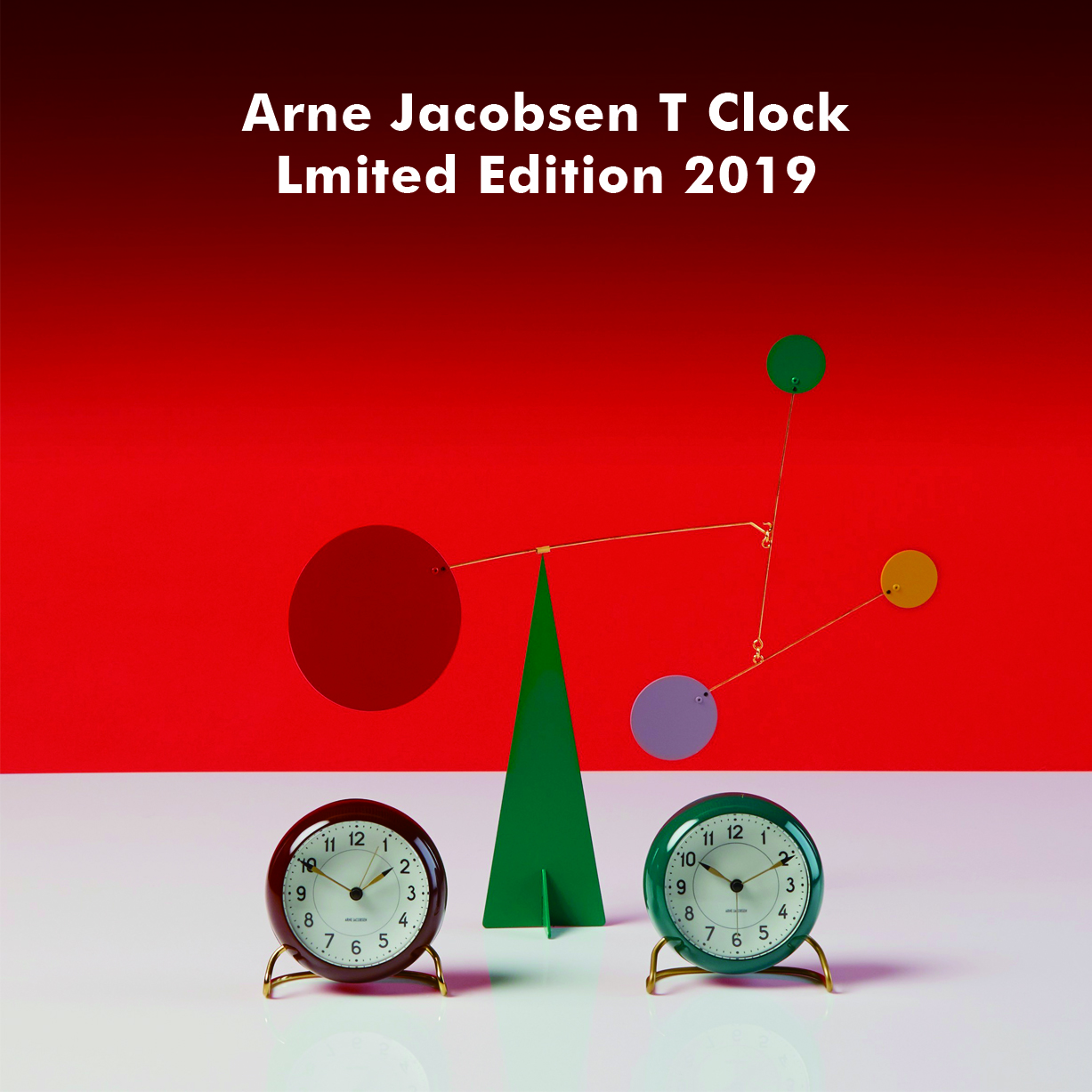ARNE JACOBSEN TABLE CLOCK Limited Edition 2019