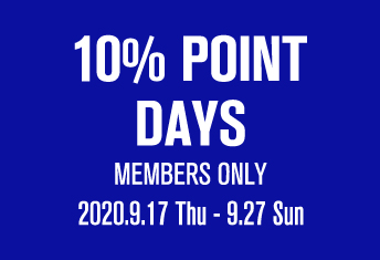 <strong>【店舗限定】10% POINT DAYS</strong>