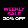 <strong>【オンラインショップ限定】Weekly Sale開催のお知らせ</strong><br />週替わりで普段セールにならない人気アイテムが20%OFFの特別価格でご購入することができます。<br />詳しくはこちら